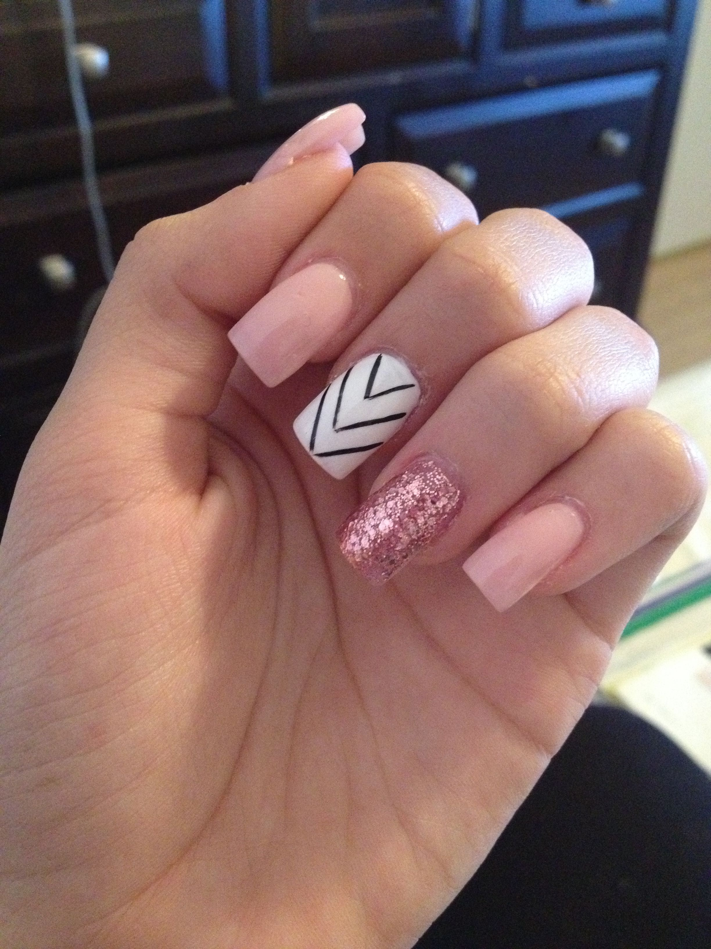 Acrylic Nails Nude Pink