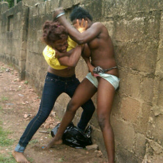 African Women Fighting Naked