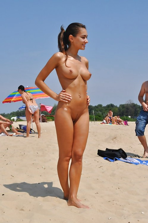 Beach Nude Topless Picture