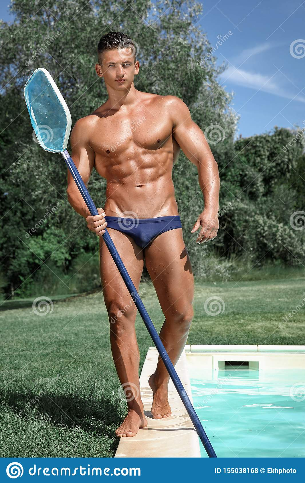 By Man Muscle Naked Pool