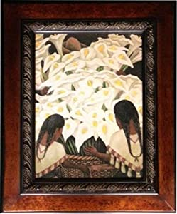 Framed Nude With Calla Lillies