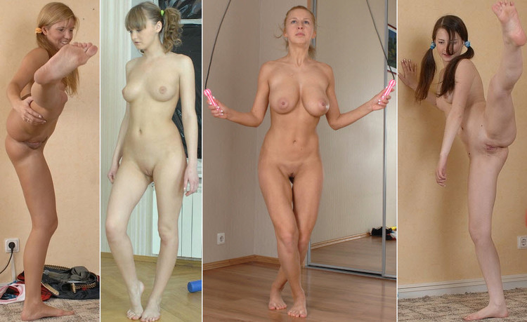 Girls Exercizing In The Nude