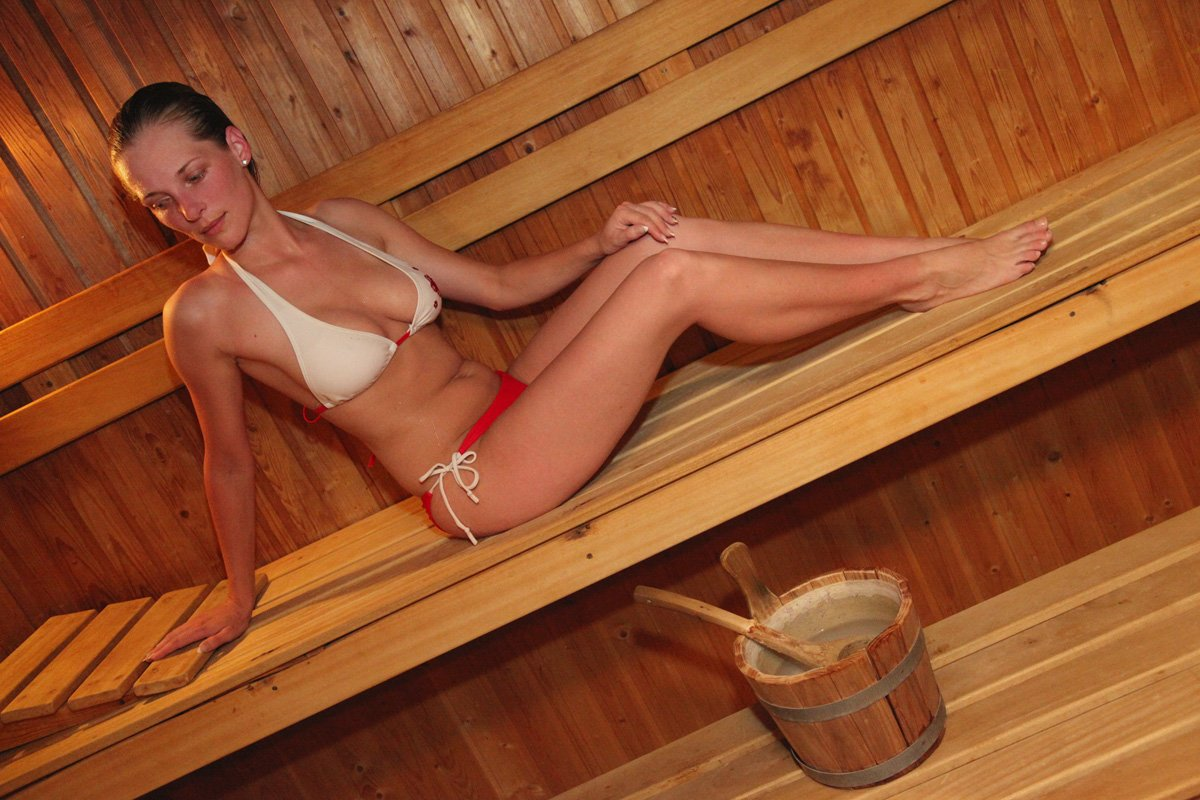 Girls Naked In A Sauna