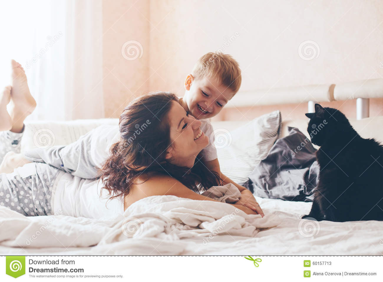 Mother Son Naked Bed