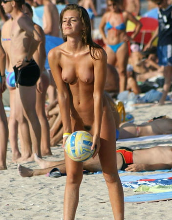 Naked Beach Volleyball Babes