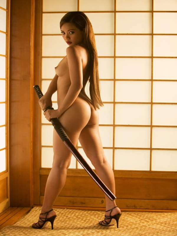 Naked Girl With A Sword
