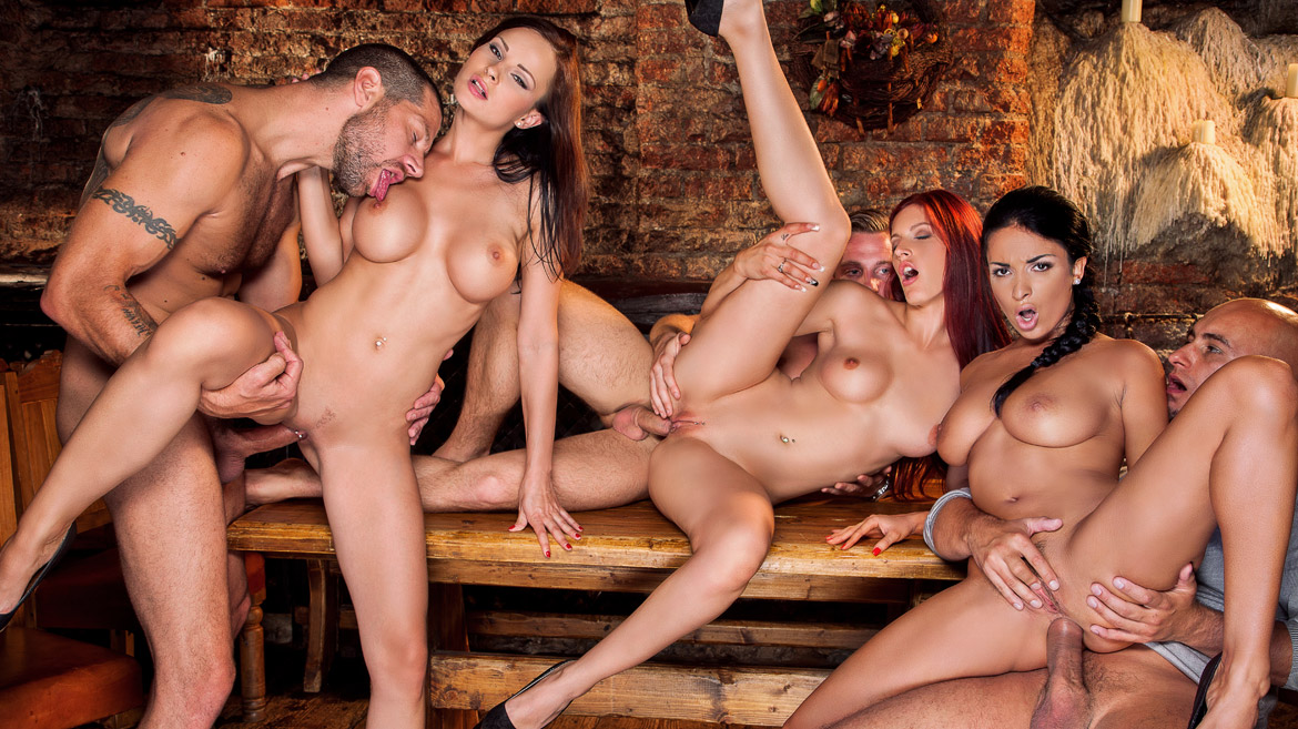 Naked Group Orgy