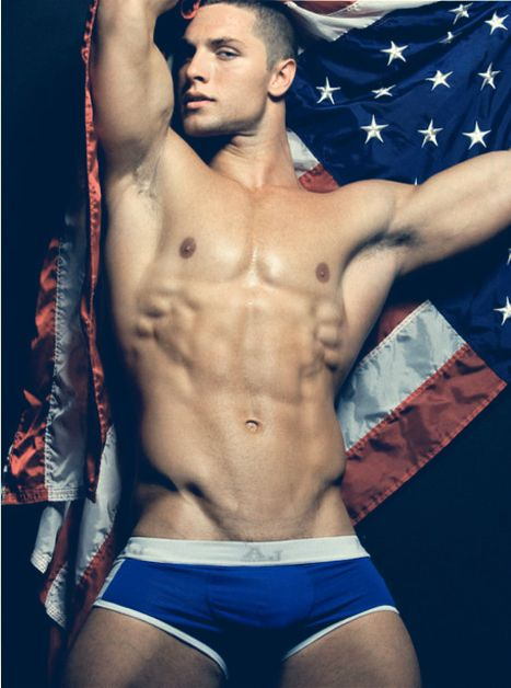 Naked Guy With Flag