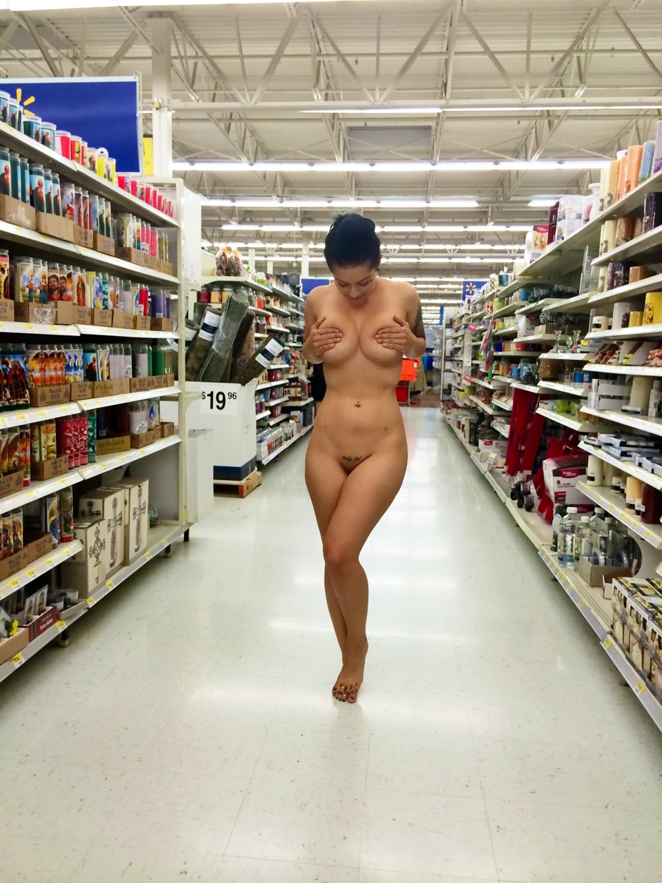 Naked In Walmart
