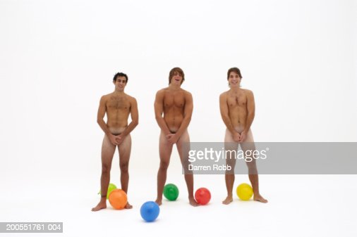 Naked Men With Balloons