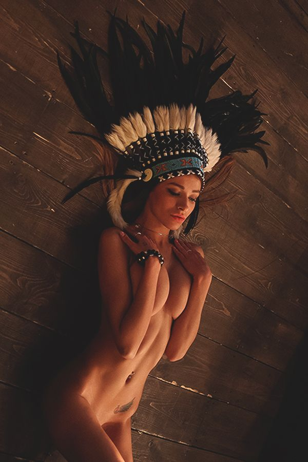 Native American Naked Painting