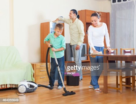 Nude Family Chores