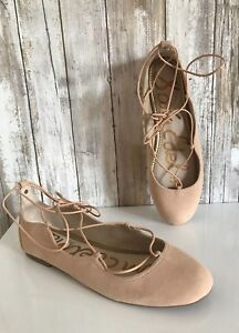 Nude Lace Flats