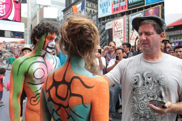 Nude Models Times Square