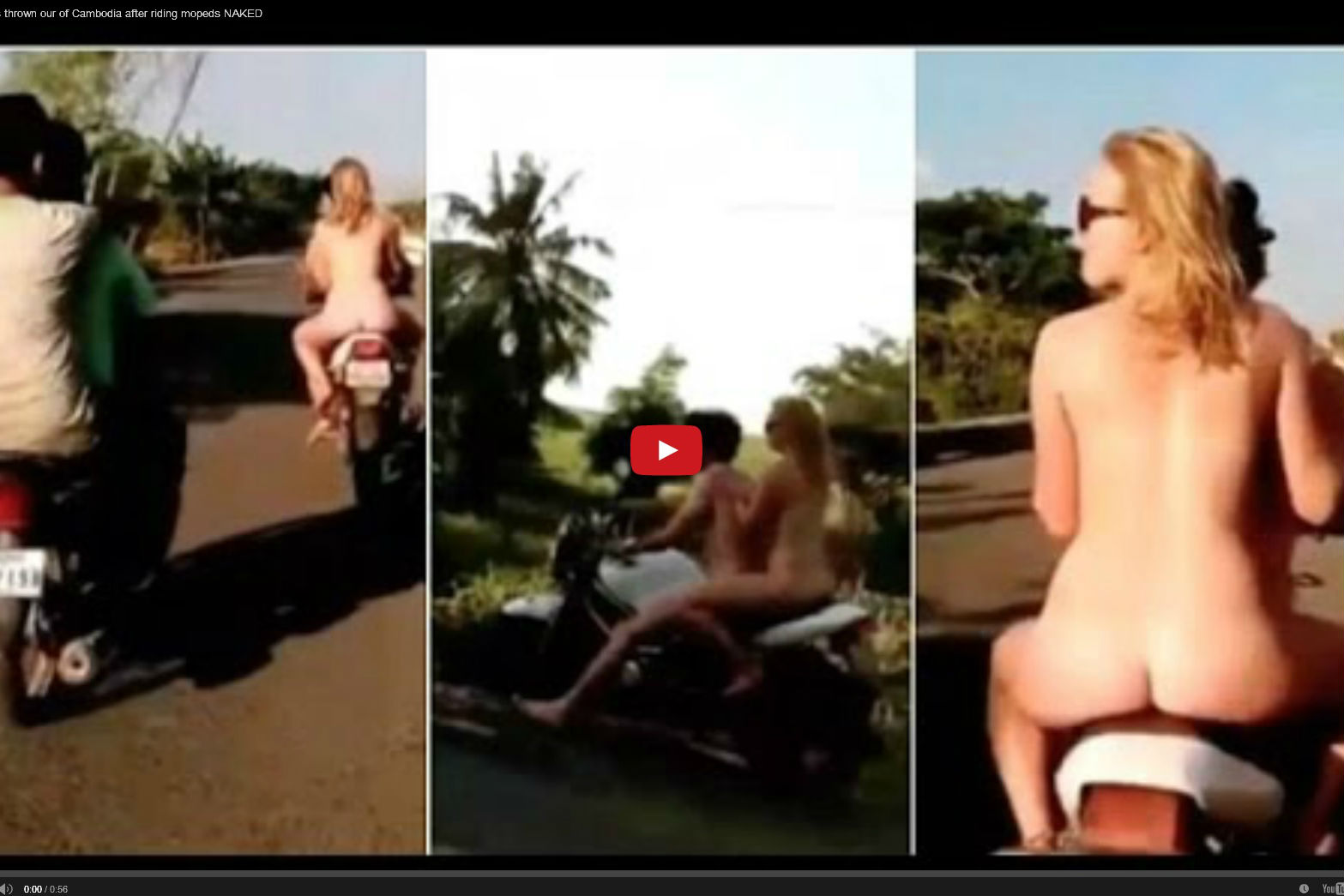 Nude Motorcycle Riding