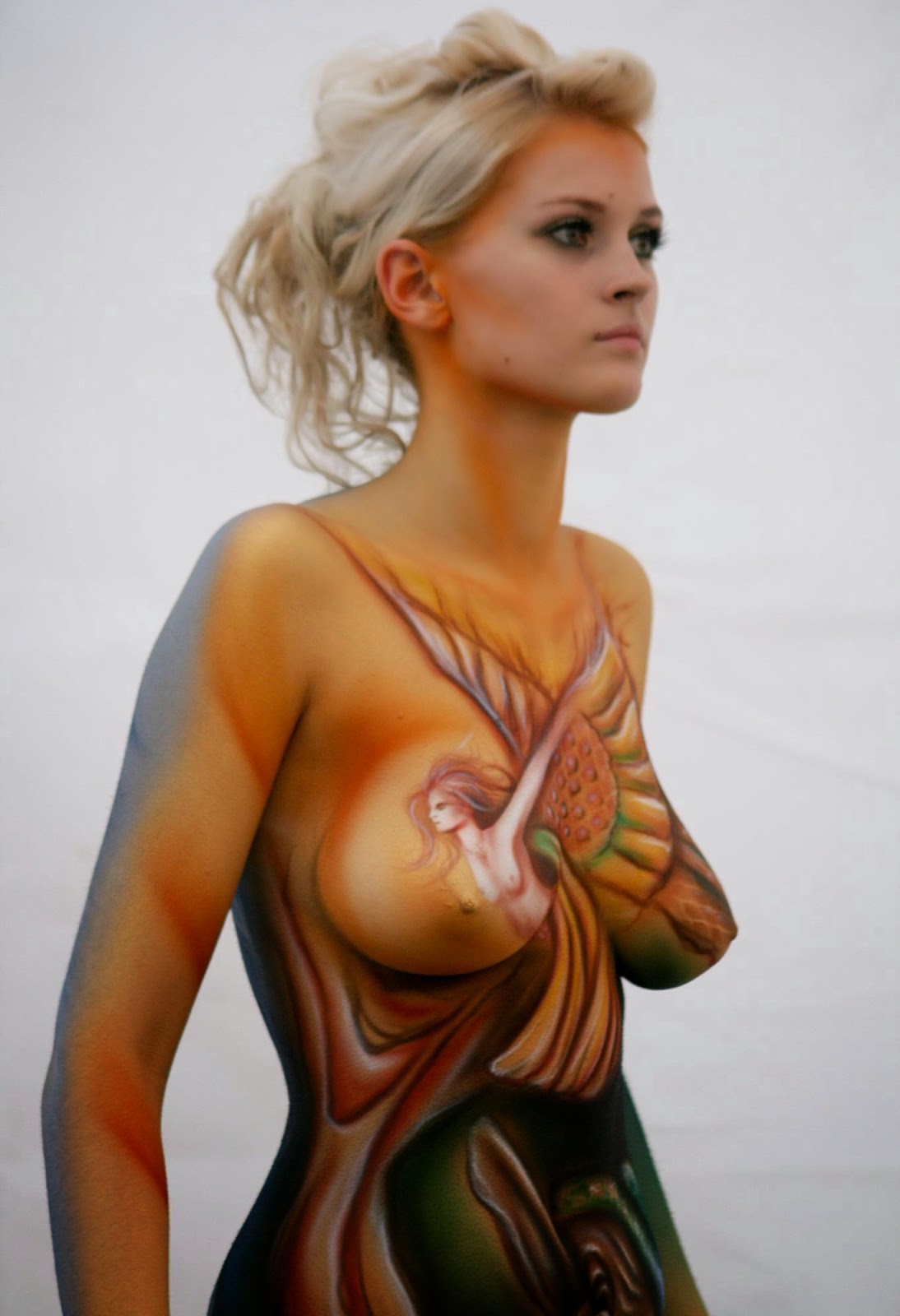 Nude Naked Body Paint