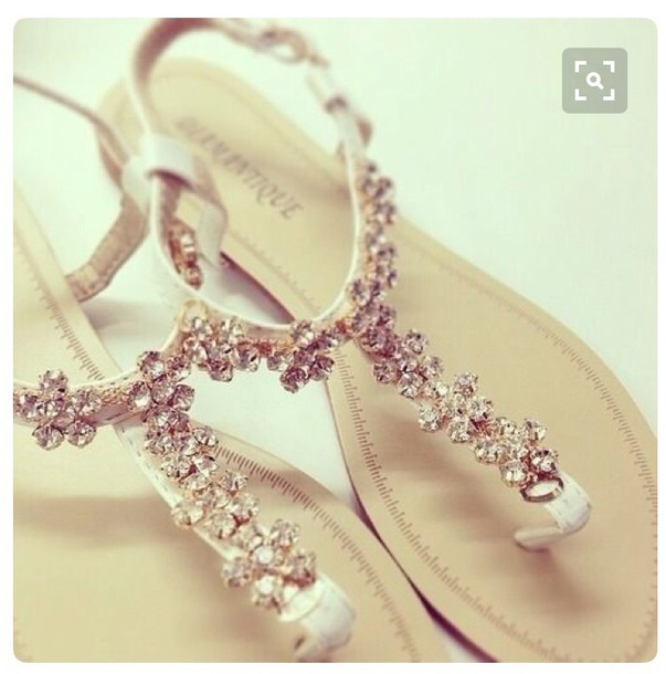 Nude Sparkly Sandals