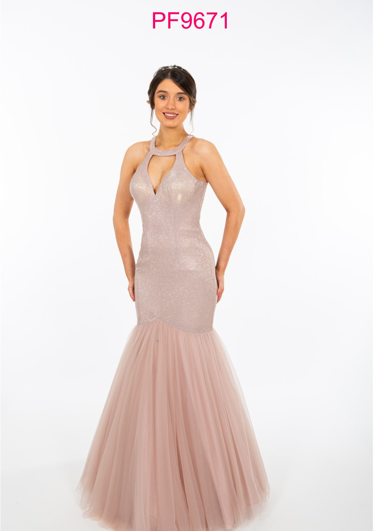Pink And Nude Dress