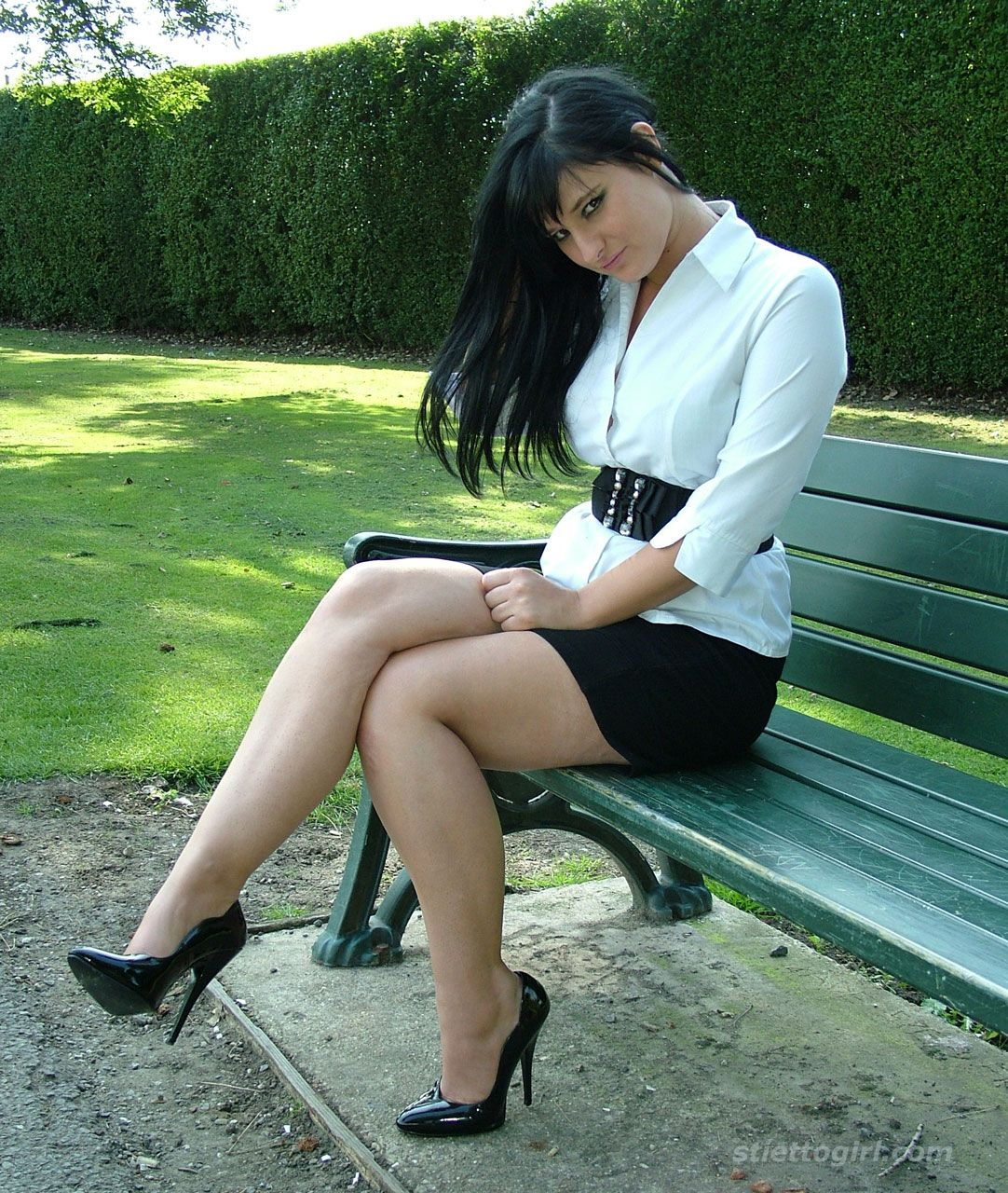 Thin Black Haired Girl Nude