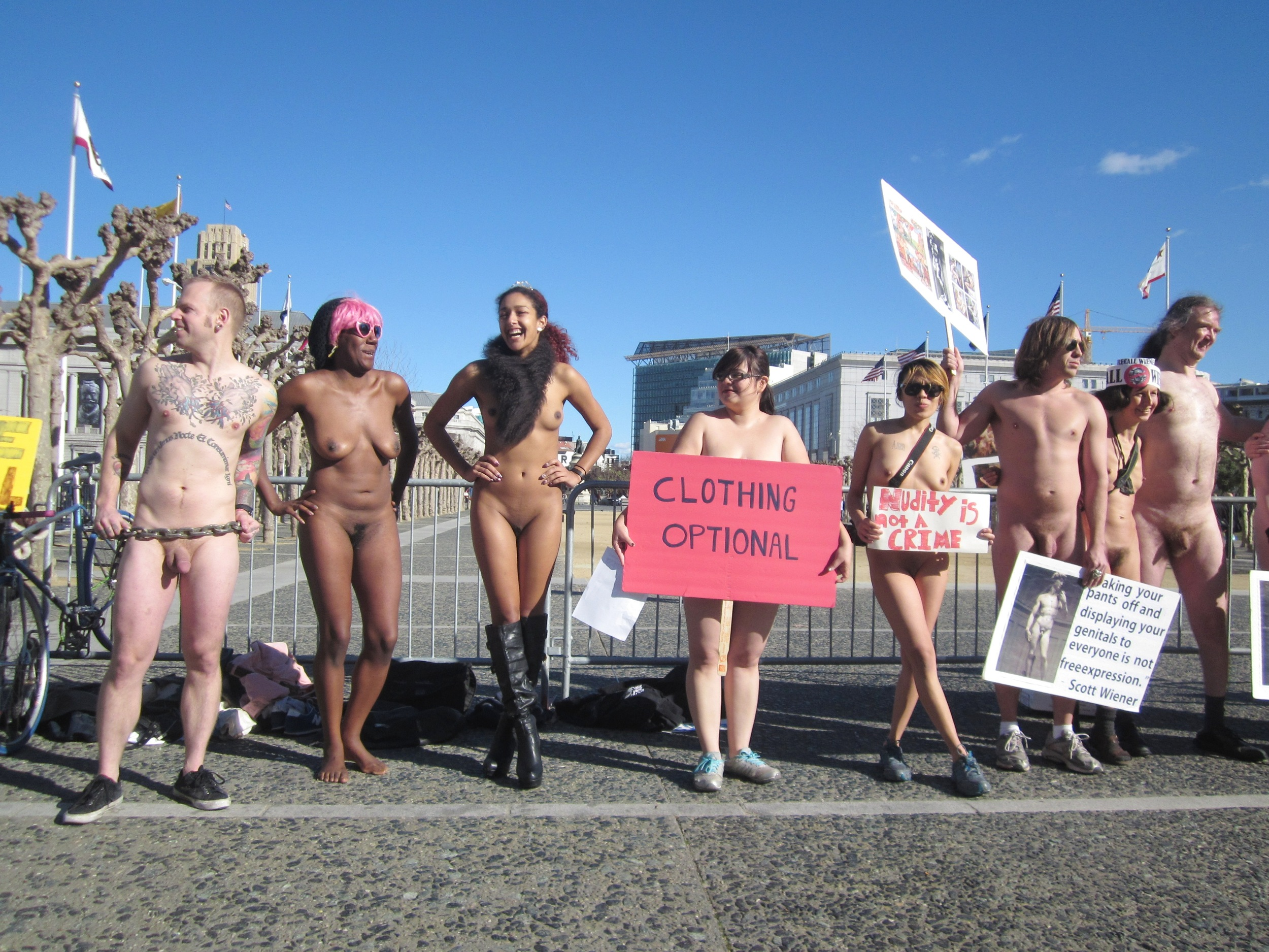 Women Nudes Protesting